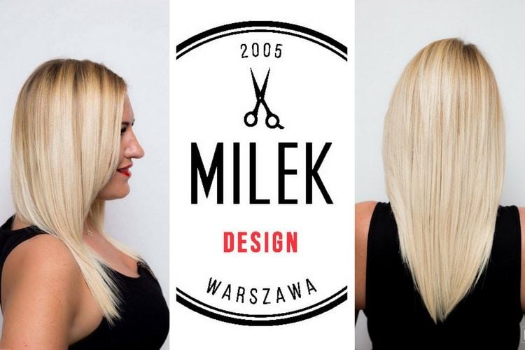 keratynowe prostowanie włosów przykład na włosach blond. Więcej o keratynie na włosach dowiesz się z naszego artykułu.